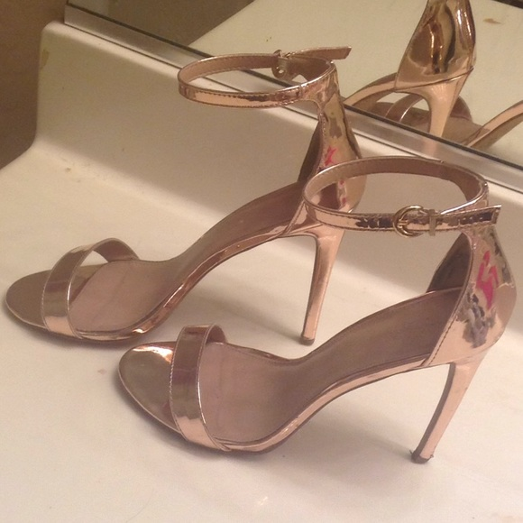 278f3bf60e73 Charlotte Russe Shoes - Metallic copper heel sandals